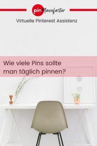 Wie viele Pins täglich?