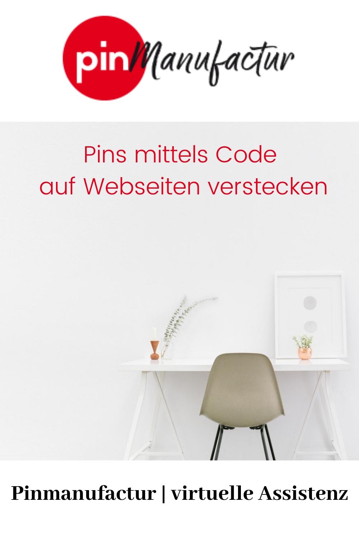 Wie man einen Pin auf einer Webseite versteckt. Anleitung