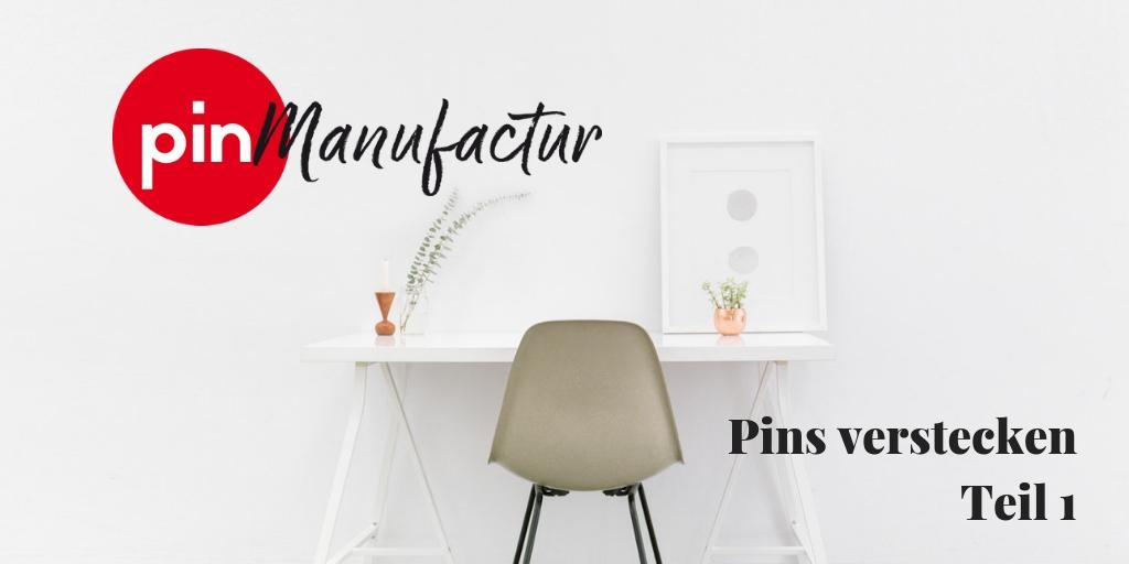 Pins mittels Code auf Webseiten verstecken, Teil 1