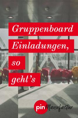 Einladung zu Gruppenboards